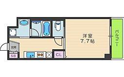 RA北田辺[2階]の間取り