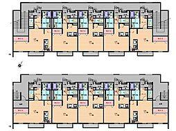 アドバンスJ 1階ワンルームの間取り