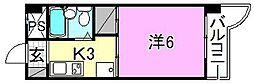 村上ビル[402 号室号室]の間取り