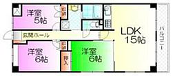 ベルハイム壱番館[4階]の間取り
