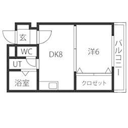 ドミローレル第8[7階]の間取り
