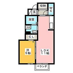 プレミアム井田[1階]の間取り