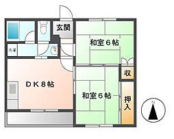 アビタシオンカトー[2階]の間取り