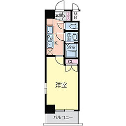 フォレシティ日本橋V[1201号室]の間取り