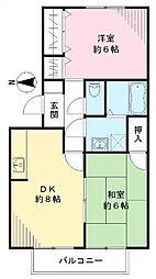 欅閣 ケヤキカク[102号室号室]の間取り