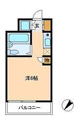 千葉県松戸市日暮6の賃貸マンションの間取り