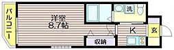 東京都世田谷区上北沢4の賃貸マンションの間取り