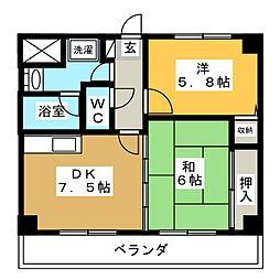 タマヤマンション[3階]の間取り