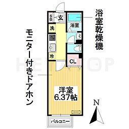 愛知県名古屋市南区鯛取通1丁目の賃貸アパートの間取り