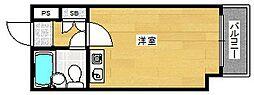 大阪府大阪市西成区花園北2丁目の賃貸マンションの間取り