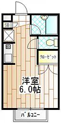 東京都町田市成瀬が丘2の賃貸アパートの間取り