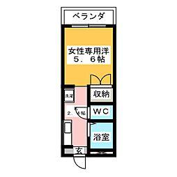 ピュアモリシタ[4階]の間取り