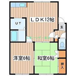 北海道札幌市東区北二十一条東2丁目の賃貸アパートの間取り