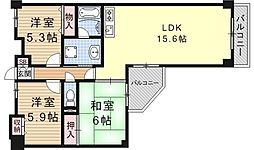 大翔第二ビル[704号室号室]の間取り