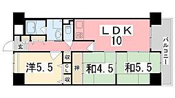 ライオンズマンション姫路西今宿[710号室]の間取り