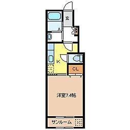 ルネッタI[1階]の間取り