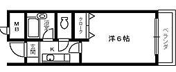 サンパレス泉佐野[4階]の間取り