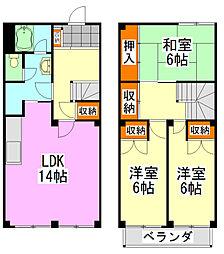 [一戸建] 千葉県船橋市芝山5丁目 の賃貸【/】の間取り