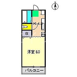 リバープール桟橋四 II[4階]の間取り