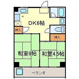第1沢の井ビル[302号室]の間取り