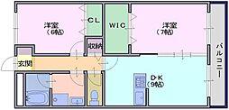 エスポワールシンコー[3階]の間取り