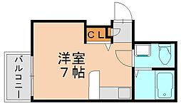 ピュアドーム井尻[8階]の間取り
