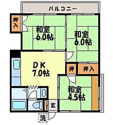 久松アパート[202号室]の間取り