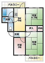 101マンション[2階]の間取り