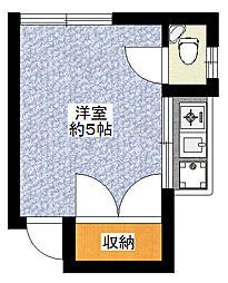 内藤ハイツ[206号室]の間取り