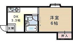 福島エンビィマンション[4階]の間取り
