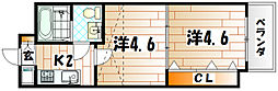 No.47 プロジェクト2100小倉駅[13階]の間取り