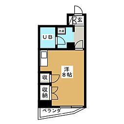 クレセントコート静岡[4階]の間取り