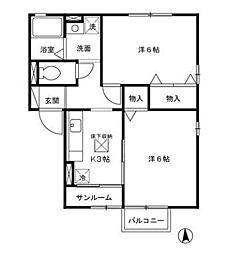 セジュールECHO[1階]の間取り