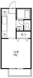 東栄ハイツ E[202号室]の間取り