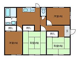 [一戸建] 神奈川県相模原市中央区東淵野辺2丁目 の賃貸【/】の間取り