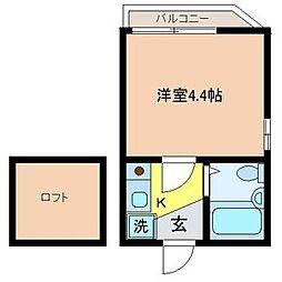 東京都台東区根岸5丁目の賃貸アパートの間取り