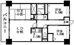 新潟県新潟市中央区万代5丁目の賃貸マンションの間取り