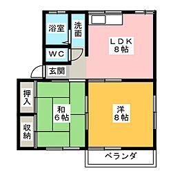 カルム青山 C棟[2階]の間取り
