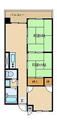 ハイツユソーキ[3階]の間取り