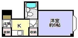 ラ・シャンブル[2階]の間取り