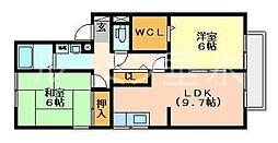 サンラーマパティオA棟[2階]の間取り