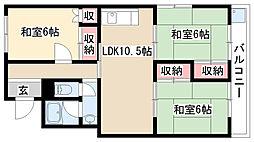 愛知県名古屋市天白区池場3丁目の賃貸マンションの間取り