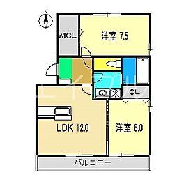 コンフォール薊[3階]の間取り