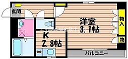岡山県倉敷市玉島爪崎丁目なしの賃貸アパートの間取り