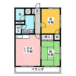 ハニーハイム[1階]の間取り