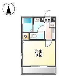 マーブルワン[2階]の間取り