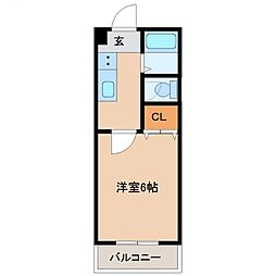 カーサTIKI南宮崎(カーサチキ)[503号室号室]の間取り