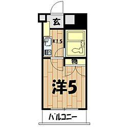 パレドール鶴ヶ峰[4階]の間取り