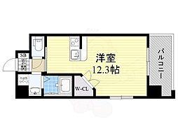 PHOENIX Clove Tomoi 4階ワンルームの間取り