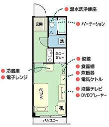 ライオンズマンション北千住第5[3階]の間取り